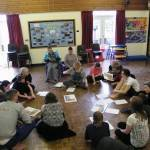Delivering a workshop at Red Marsh School